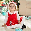 Disney Store Minnie Mouse Holiday Cheer Baby Dress