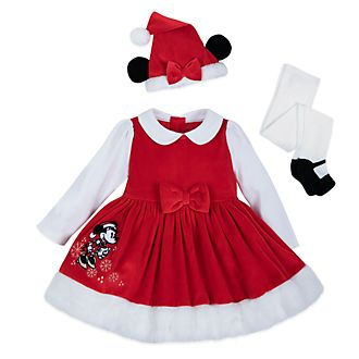 Disney Store Robe Minnie pour bébés, Holiday Cheer