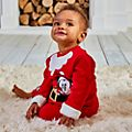 Disney Store Mickey and Pluto Holiday Cheer Baby Top and Bottoms Set