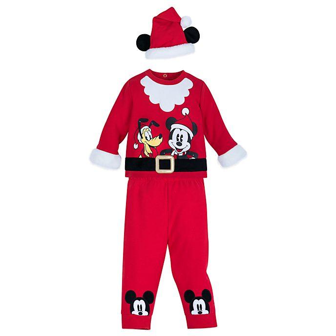 Disney Store Ensemble haut et bas Mickey et Pluto pour bébés, Holiday Cheer