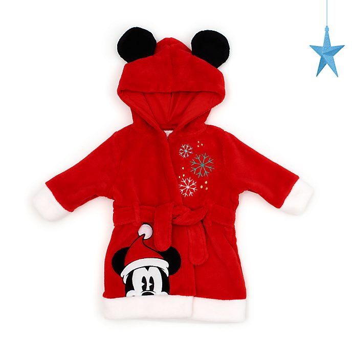Disney Store Mickey Mouse Holiday Cheer Baby Dressing Gown