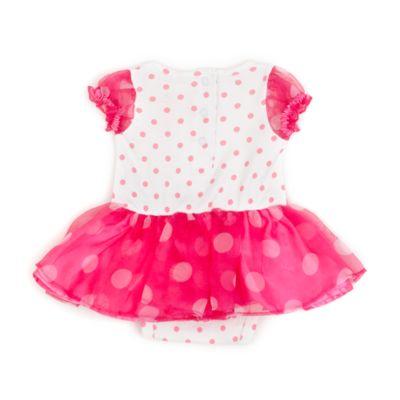 minnie maus kost m body und stirnband in wei und pink. Black Bedroom Furniture Sets. Home Design Ideas