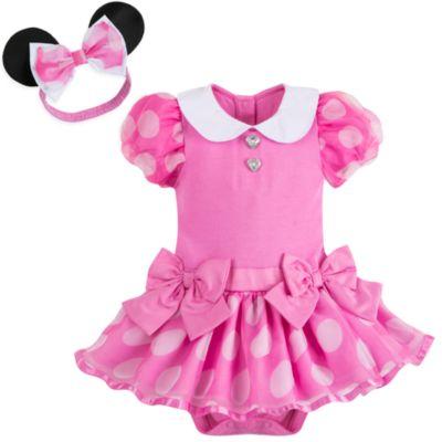Body déguisement Minnie Mouse rose pour bébé