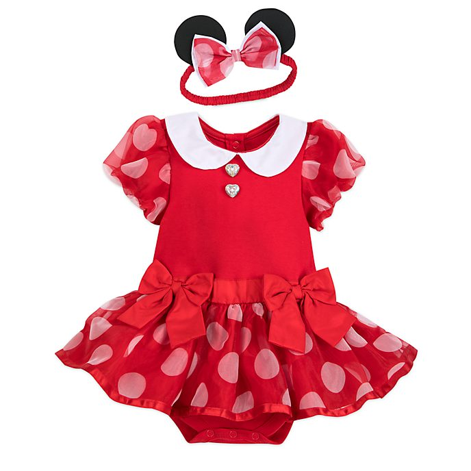 Disney Store - Minnie Maus - Kostüm-Body und Haarband für Babys in Rot
