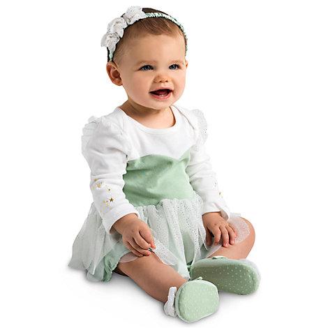 Klokkeblomst bodystocking til baby