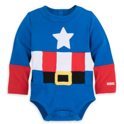 Captain America Baby Costume Body Suit