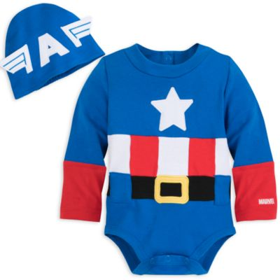 Pelele-vestido del Capitán América para bebé