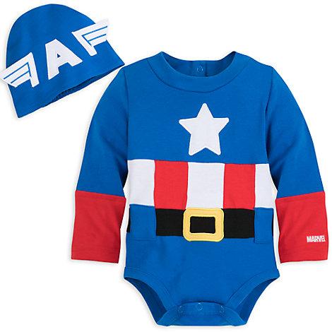 Captain America - Kostüm-Body für Babys