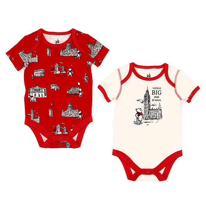Disney Store Winnie the Pooh Baby Body Suit Set, Christopher Robin