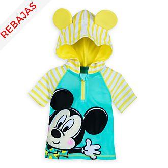 Camiseta de protección solar con capucha Mickey Mouse para bebé, Disney Store