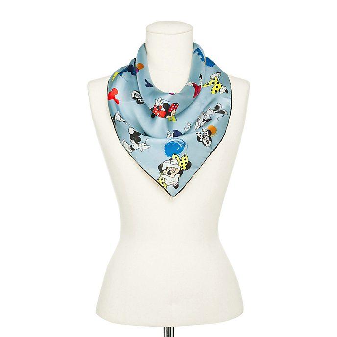 Codello Foulard Minnie Mouse en soie bleu