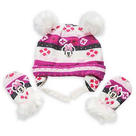 Minnie Mouse Baby Hat and Mittens Set