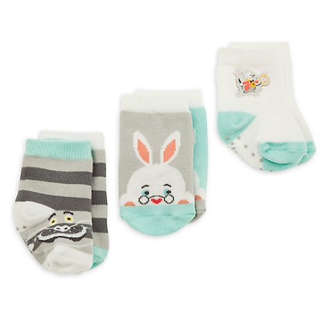 Alice in Wonderland Baby Socks Gift Set, 3 Pairs