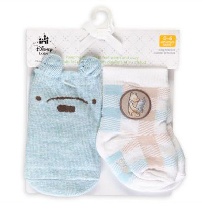 Calcetines azules de Winnie the Pooh para bebé, 2pares
