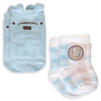 Lot de 2paires de chaussettes bleues pour bébé Winnie l'Ourson