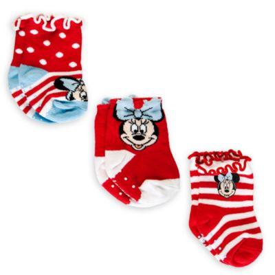 Minnie Maus – Geschenkset mit Socken für Babys, 3 Paar