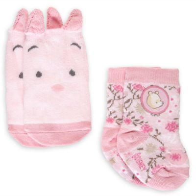 Winnie The Pooh Pink Baby Socks, 2 Pairs