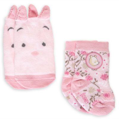 Calcetines rosas de Winnie the Pooh para bebé, 2pares