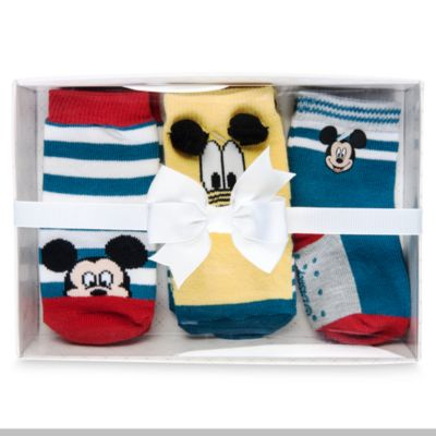 Mickey Mouse Baby Socks Gift Set, Pack of 3