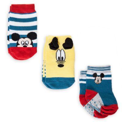 Coffret cadeau de 3 paires de socquettes pour bébé Mickey