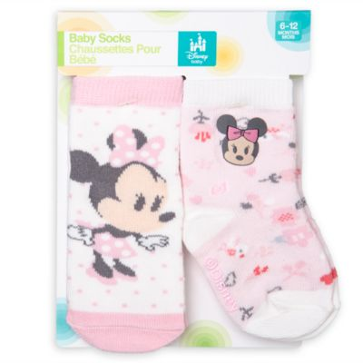 Minnie Mouse Baby Socks, Pack of 2