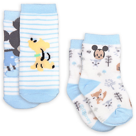 Mickey Mouse Baby Socks, Pack of 2