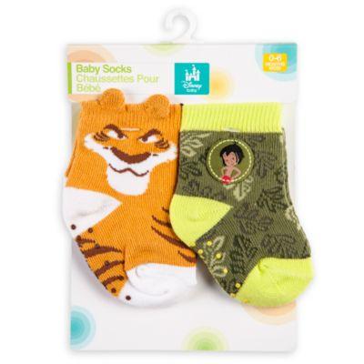 Lot de 2paires de chaussettes Le Livre de la Jungle pour bébés