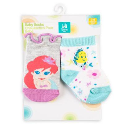 The Little Mermaid Baby Socks, 2 Pairs