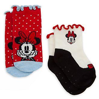 Disney Store Lot de 2paires de socquettes Minnie Mouse pour bébé