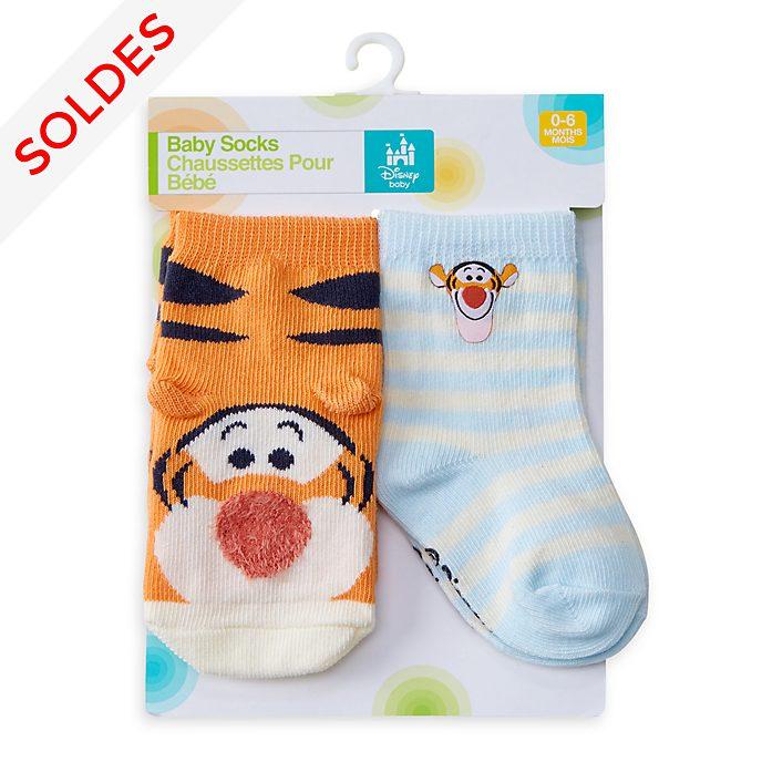 Disney Store Lot de 2paires de chaussettes Tigrou pour bébé