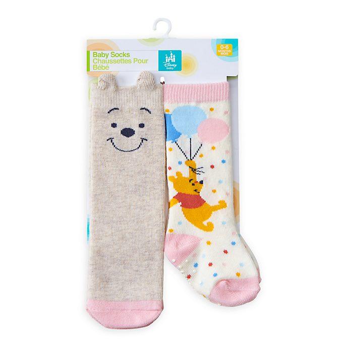 Disney Store Lot de 2paires de chaussettes Winnie l'Ourson pour bébé
