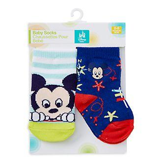 Calzini baby Topolino Disney Store, 2 paia