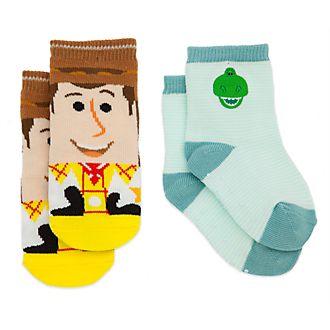 Disney Store Woody and Rex Baby Socks, 2 Pairs