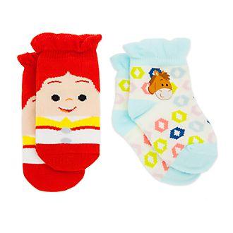 Disney Store Jessie and Bullseye Baby Socks, 2 Pairs