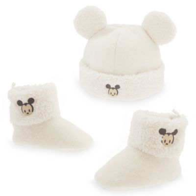 Mickey Mouse Baby Hat and Boots Set