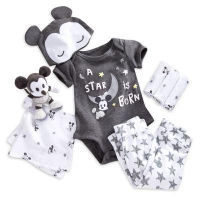 Ensemble cadeau pour bébé Bienvenue à la maison Mickey Mouse