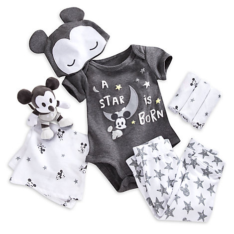 Mickey mouse welcome home baby gift set negle Image collections