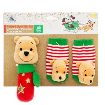 Winnie The Pooh Baby Rattle and Socks Gift Set