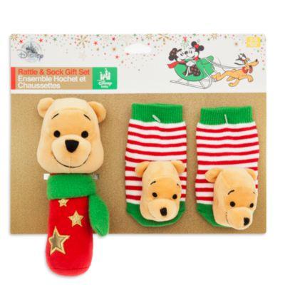 Winnie Puuh - Geschenkset mit Rassel für Babys und Socken