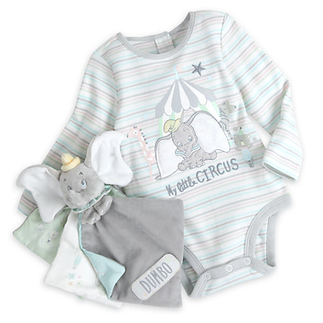 Dumbo Baby Body Suit And Picture Book Gift Set
