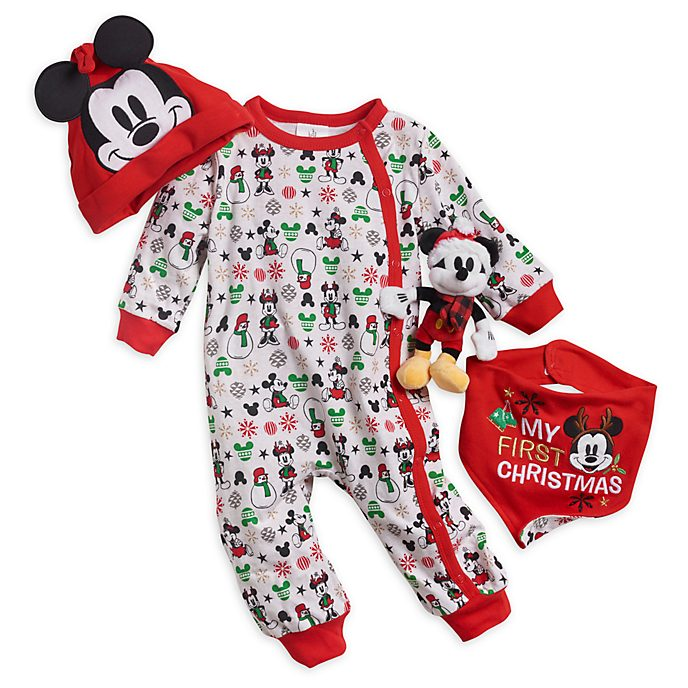 9635936aab03 Mickey and Minnie Mouse Baby's First Gift Set