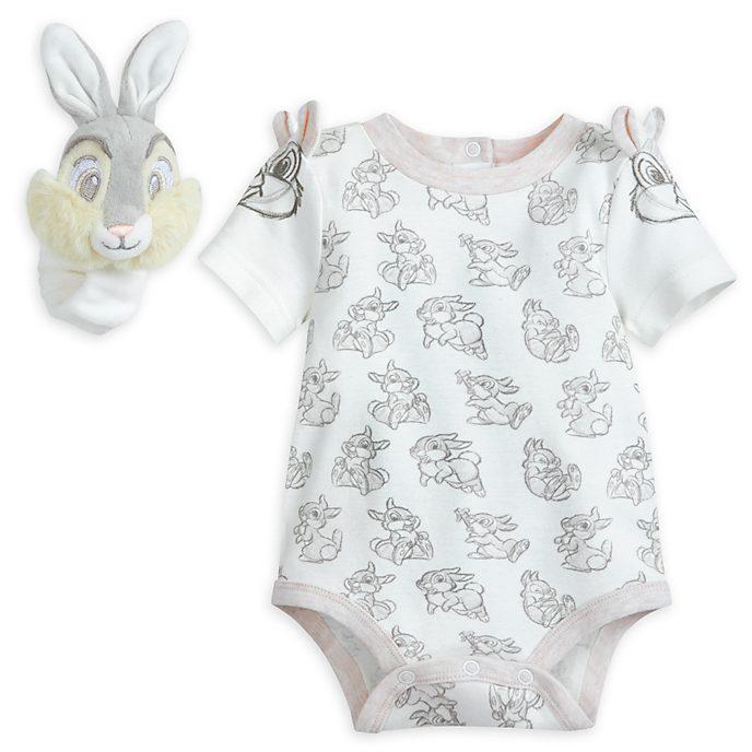 Klopfer - Set mit Baby Body und Rassel für Babys