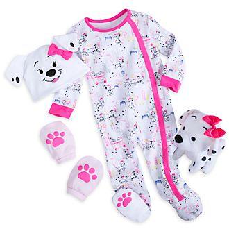 Disney Store Coffret cadeau rose Les 101Dalmatiens pour bébés
