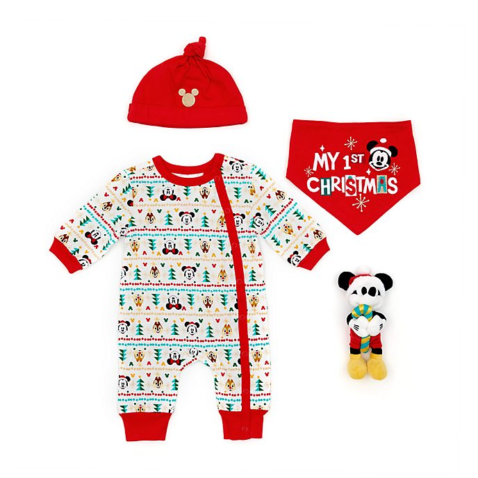 Disney Store Mickey and Friends Baby's First Christmas Gift Set
