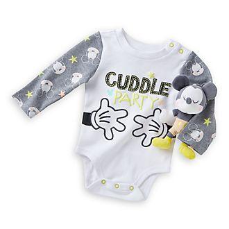 893635b26 Canastilla bebé Mickey Mouse con body y sonajero