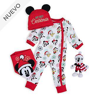 Canastilla regalo primeras navidades para bebé Mickey y sus amigos, Disney Store