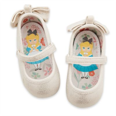 Alice In Wonderland Silver Shimmer Baby Shoes