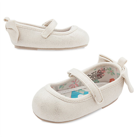 Alice In Wonderland Silver Shimmer Baby Shoes