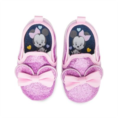 Minnie Mouse Glitter Baby Shoes