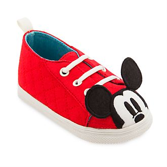 Disney Store Mickey Mouse Red Baby Shoes